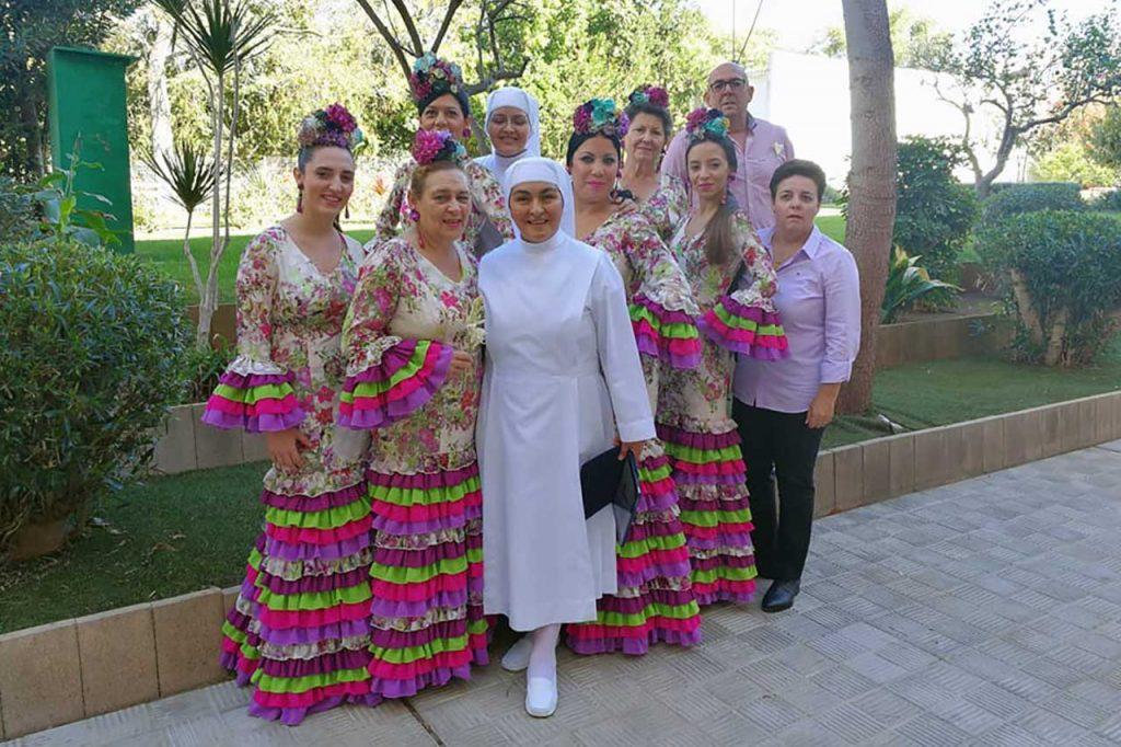 Misa Rociera en residencia de mayores San Rafael en Dos Hermanas