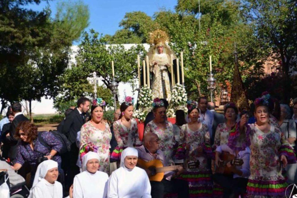 04 - Misa Rociera en residencia de ancianos San Rafael en Dos Hermanas