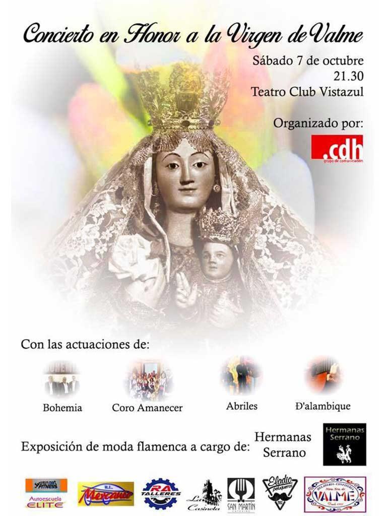 Cartel concierto en honor a la Virgen de Valme - Coro Rociero Amanecer